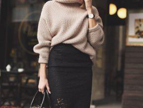 заправить свитер в юбку
