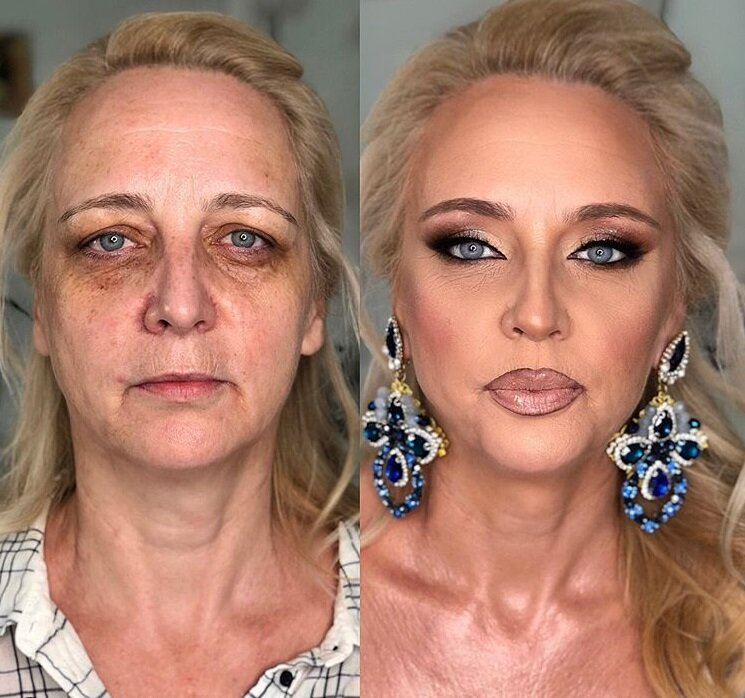 как убрать мешки под глазами макияжем