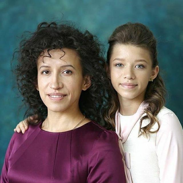 Лена Борщева с дочкой Мартой