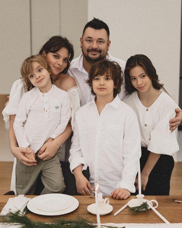 Сергей Жуков со своей семьей